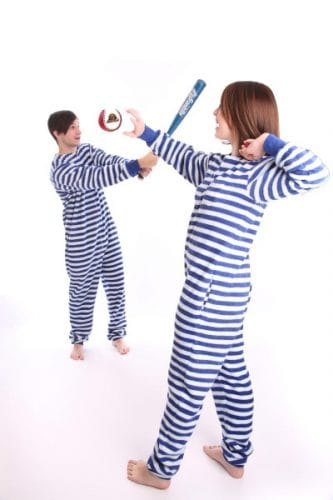 Nautical Stripes Funzee - Adult Onesie