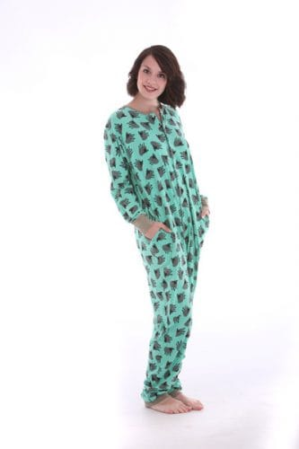 Sheep on Green Funzee - Adult Onesie