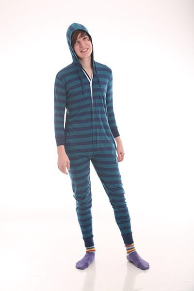 Blue Retro - Adult Onesie