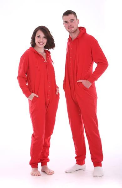 4737f13a79 AllinOne Cotton Rich Fleece Sleepsuit - Ferrari Red - Funzee