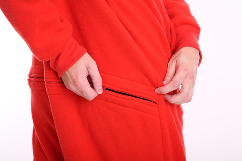 "3e04e515c8 Red Fleece Adult Onesie with ""Butt"" Flap – Vintage funzee - Funzee"