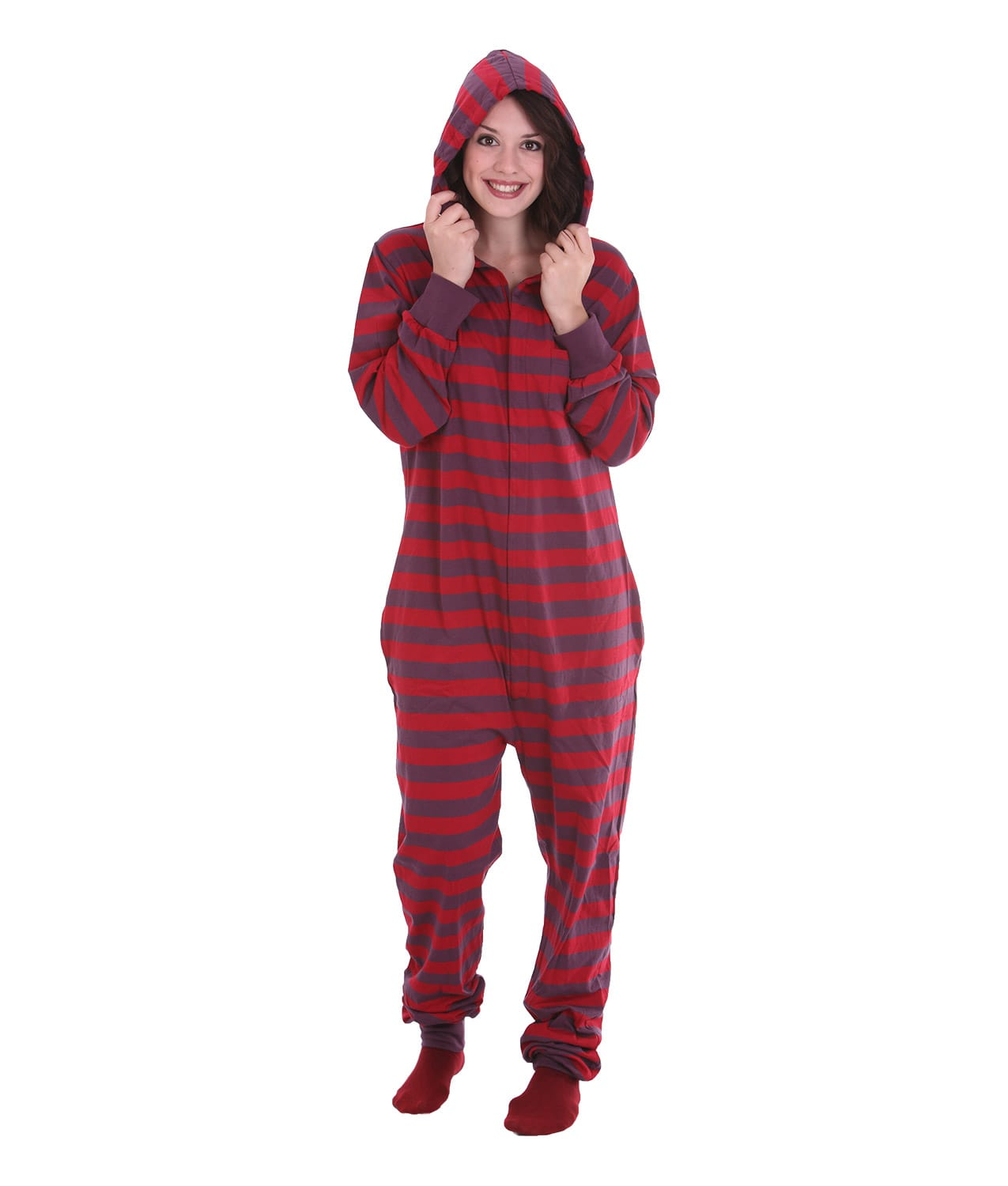 Onesie Hooded Pajama Suits for Adults We have been selling Hooded Pajama Suits since so we know that our customers are all different and want a wide choice of styles. From customer feedback we have learned that most of you like the extra warmth and comfort of hooded pajama suits.