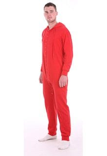 AllinOne Cotton Rich Fleece Sleepsuit – Ferrari Red