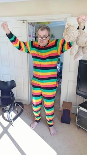 Reggae striped onesie