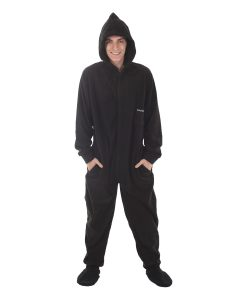 Jet Black Footed Onesie Pyjama Suit