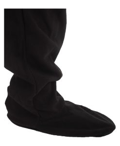 Jet Black Footed Onesie Pyjama Suit