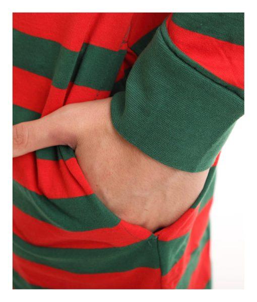 Elfie Unfooted Stripy Onesie