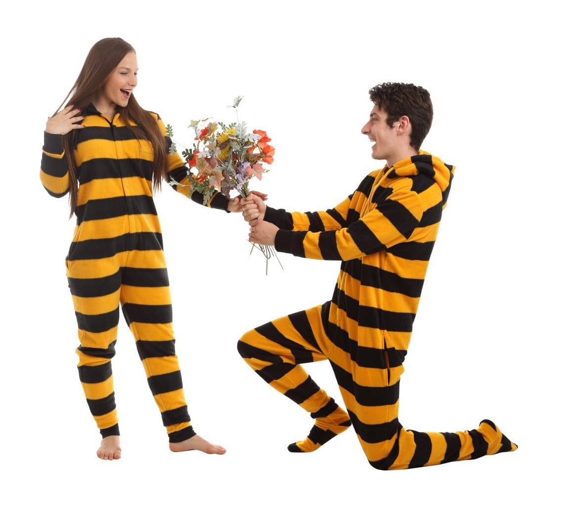 Onesie Pyjamas are best - try our Bumble design
