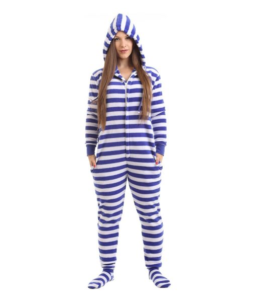 Nautical Footed Adult Onesie Pyjama Suit